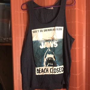 Men's jaws tank top
